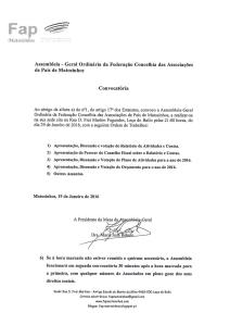 Convocatória com Assinatura